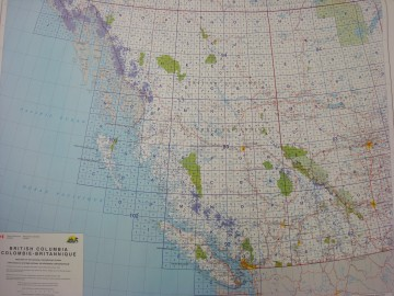 National Topographic Index Map for BC