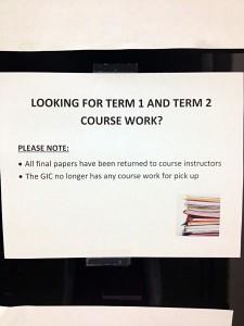 Term paper return